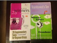 Four Trombone Music books of easy to play tunes