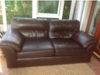 Leather sofa from next (dark brown)