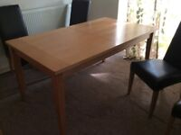 Dining table & 4 Faux Leather Chairs