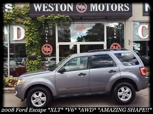 2008 Ford Escape XLT* V6* AWD* AMAZING SHAPE