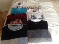 7 X mens large t-shirts including G-star raw, Armani and Jack Jones