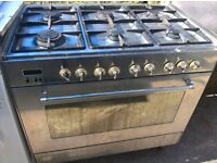 Range Silver Gas cooker 90cm...free delivery