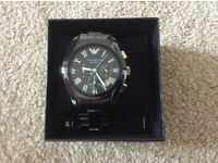 Brand New Mens Armani Ceramica In Black