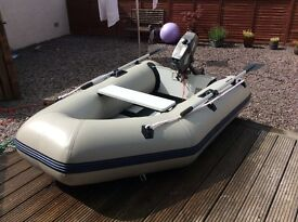 Plastimo 2.4 dinghy and 3.5hp outboard.