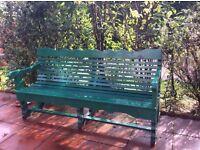Locally made 3 seater garden bench
