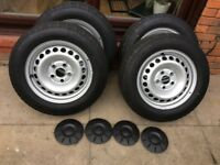 Vw T5 wheels With contiVancontact 200 tires R16C