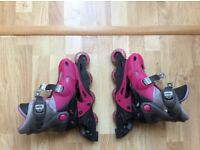 Girl's in-line roller skates