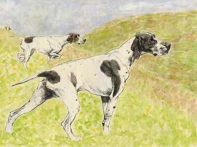 ENGLISH SETTER CHARMING DOG GREETINGS NOTE CARD BEAUTIFUL DOGS ON THE MOOR