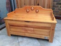 Wood Toys Storage Chest Box