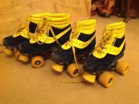 Vintage roller skates 2 pairs