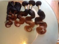 """Brazilian Virgin hair ombre 1B/30 12""""14'16 and 12 inches Lace Closure 8A collection or posted offer"""
