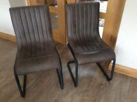 2 Next Bernie dining chairs