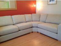 Cream Corner Sofa, excellent condition