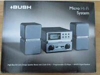 Bush Micro Hi-Fi System in box