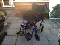 Wheelchair . Foldable transition chair.