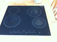Baumatic 4 ring Ceramic electric Hob, Well used but functional.