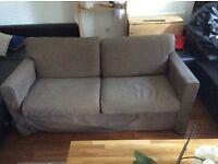 Brown 3 seater Ikea fabric sofa £30