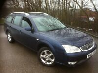 2007 FORD MONDEO DIESEL ESTATE 130 6-SPEED , TOW BAR FITTED . MOT APRIL . NO RUST