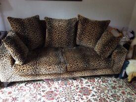 Luxurious Leopard Print Sofa