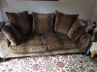 Luxurious Leopard Print Sofa