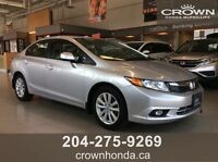 2012 HONDA CIVIC EX - LOCAL TRADE! POWER SUNROOF AND ALLOY WHEE
