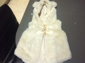 Baby girls gilet/coat age 3-6 months