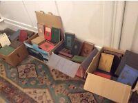 Vintage books, 6 boxes