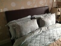 King size bed for sale with mattress. Wooden base with mattress