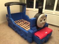 Cot Bed size Little Tikes Thomas the Tank Engine Bed with front storage compartment