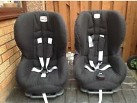 One Britax car seat, Group 1 (9m - 4yr) used occasionally by grandparents for twins