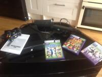 X Box Kinect and three games.