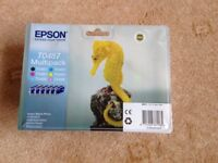 EPSON TO487 Multipack printer cartridge and with printer