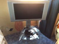 Bush television 26 inch with remotes, stand and Freewiew box