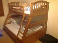 Three sleeper bunk bed ( frame only)
