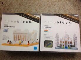 New- Nano Block Taj Mahal and Nano Block Parthenon (unopened) 10 the pair