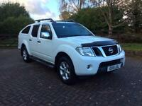 Nissan Navara Tekna Double Cab , 2011, Black Leather, Auto, Air Con, Alloys, SideSteps, MOT June 18