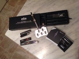 Electronic cigarette Brand eGo with 2 clearomizer and spare battery