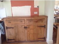 Very old pine dresser base in beautiful original condition