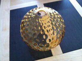 Lightshade- Amber Glass Globe