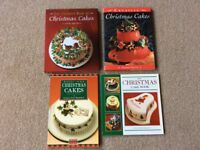 Cake Decorating Books - Christmas Themed Cakes - 4 books