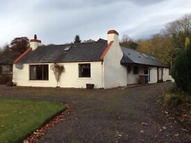 Three bedroom cottage for sale in quiet part of Alness. Beautiful view . Large garden