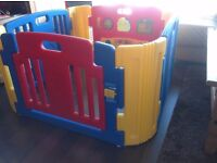 Little Playzone Playpen w/ Electronic Lights and Sounds Play Yard 8 piece