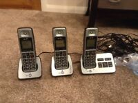 BT 3 handsets with answer phone
