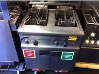 FALCON TWIN TANK FRYER CATERING COMMERCIAL FAST FOOD RESTAURANT CHICKEN BBQ KEBAB TAKE AWAY KITCHEN