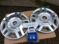 "Two brand new Fiat Motorhome Wheel trims (15"")"