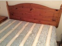 Double bed and headboard - free for uplift