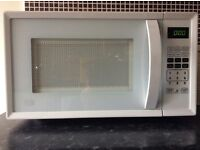 White microwave pick up only