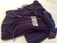 Stripped men's scarf unwanted gift (Marks and Spencer's)