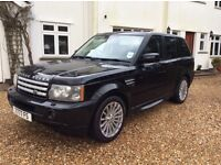 LAND ROVER RANGE ROVER SPORT HSE 3.6 TDV8 AUTO BLACK WITH FULL BLACK LEATHER FULL SERVICE HISTORY