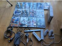 Nintendo Wii + 13 games + 2 controllers